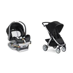 Chicco Bravo Stroller & Chicco KeyFit Infant Car Seat in Omb