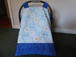 **CARE BEARS**in blue Handmade Baby Car Seat Canopy-Cover