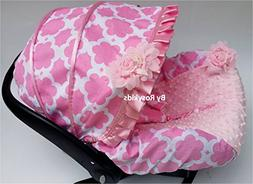 Rosy Kids Infant Carseat Canopy Cover 3 Pc Whole Caboodle Ba