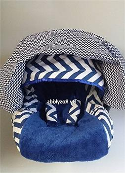 Rosy Kids Infant Carseat Canopy Cover 4pc Whole Caboodle, Ba