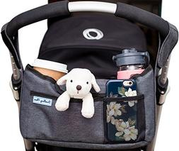 Deluxe Stroller Organizer Bag ,Two Insulated Cup Holders,Sim