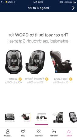 Safety 1st Grow and Go Ex Air 3-IN-1 Convertible Car Seat,Bl