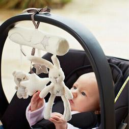 Cute Stroller Car Seat Plush Baby Play Travel Toy Gifts for Toddler Infant