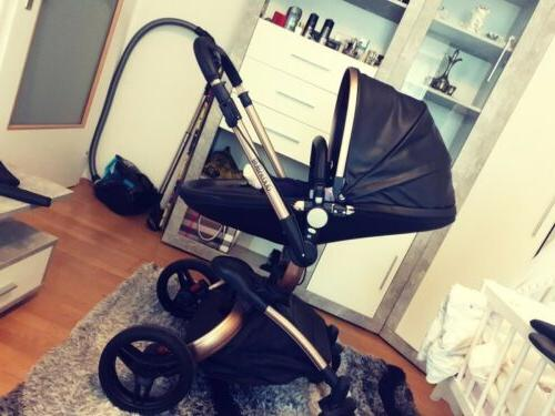 Leather Stroller Car 360 To Push