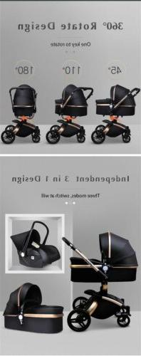 Leather Baby With Car And 360 Rotation, Push