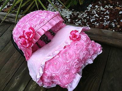 Set baby pink  infant car seat cover canopy cover Blanket fi