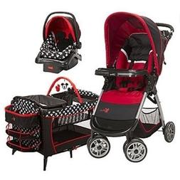 Disney Mickey Mouse Travel System Stroller Car Seat and Crib