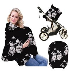 Baby Car Seat Covers, Nursing Cover Breathable Stretchy Brea